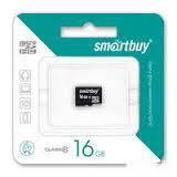 Карта памяти microSD Smartbuy 16GB