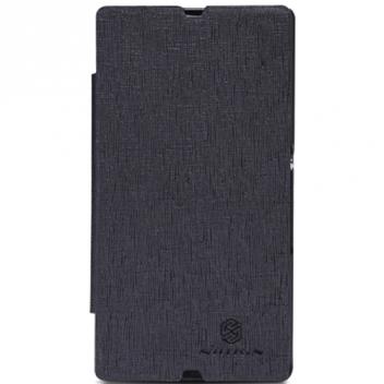 Чехол для Sony Xperia Z LT36i кожаный - книжка + пленка Nillkin N-Style черный