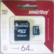 Карта памяти microSD Smartbuy 64GB