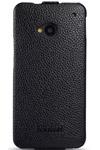 Чехол для HTC One кожаный - книжка iCarer черный
