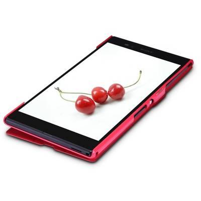 Чехол для Sony Xperia Z Ultra XL39H пластик с кожей Nillkin Fresh красный