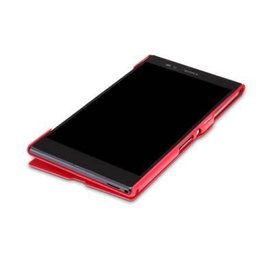 Чехол для Sony Xperia Z Ultra XL39H пластик с кожей Nillkin V-Style красный