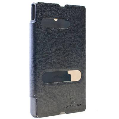 Чехол для Sony Xperia Z LT36i кожаный - книжка с окошком NillKin Easy черный