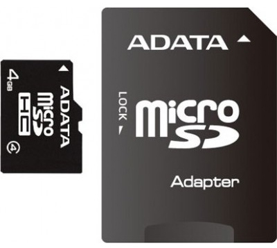 Карта памяти microSD 4 GB + Adapter