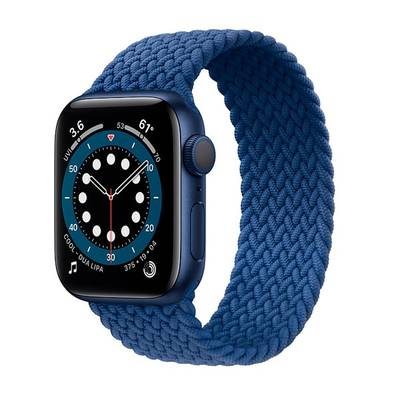 Apple Watch Series 6 40mm Blue Aluminum Braided Solo Loop