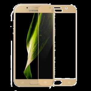 Защитное стекло на телефон Samsung Galaxy A3 3D Gold