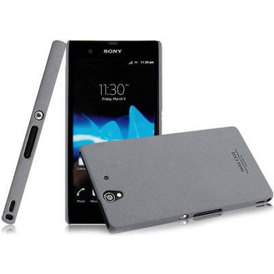 Чехол для Sony Xperia Z LT36i керамический + пленка iMak Stone, серый