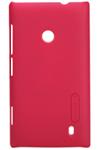 Чехол для Nokia Lumia 520 пластиковый тонкий + пленка NillKin D-Style красный