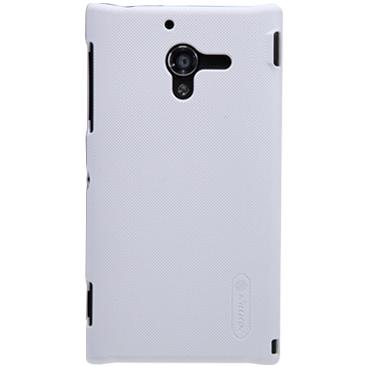 Чехол для Sony Xperia ZL L35H пластиковый тонкий + пленка NillKin D-Style белый