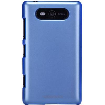Чехол для Nokia Lumia 820 пластиковый тонкий + пленка NillKin DUO-Style голубой