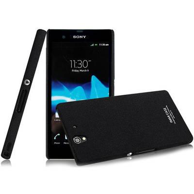 Чехол для Sony Xperia Z LT36i керамический + пленка iMak Stone, черный