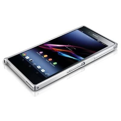 Чехол для Sony Xperia Z Ultra XL39H Бампер алюминиевый ультра-тонкий Love Mei 0,7мм серебристый