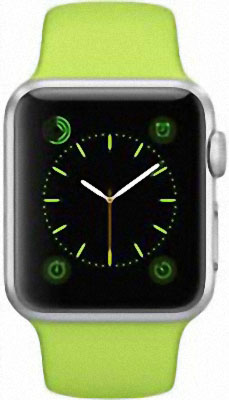 Apple Watch Sport 38mm Silver with Green Sport Band (MJ2U2)