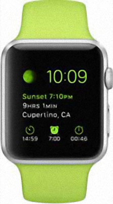 Apple Watch Sport 42mm Silver with Green Sport Band (MJ3P2)