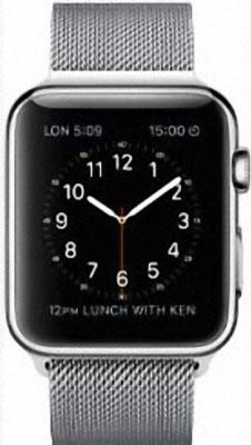 Apple Watch 38mm Stainless Steel with Milanese Loop (MJ322)