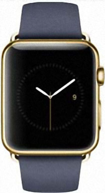 Apple Watch Edition 42mm Yellow Gold with Blue Classic Buckle (MJVT2)