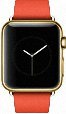 Apple Watch Edition 38mm Yellow Gold with Red Modern Buckle (MJ3G2)