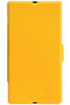 Чехол для Sony Xperia Z LT36i пластик с кожей Nillkin Fresh желтый
