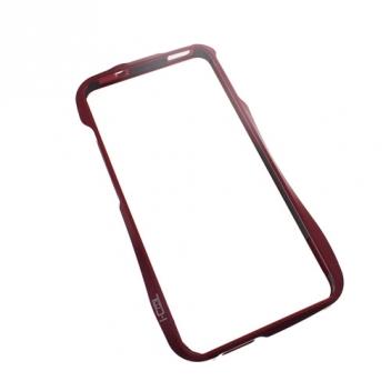 Бампер для HTC One алюминиевый красный