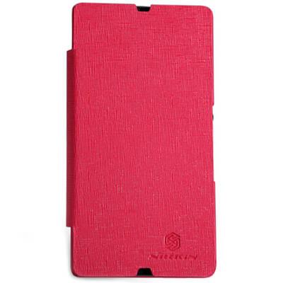 Чехол для Sony Xperia Z LT36i кожаный - книжка + пленка Nillkin N-Style красный