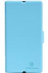 Чехол для Sony Xperia Z LT36i пластик с кожей Nillkin Fresh голубой