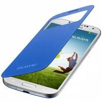 Чехол для Samsung Galaxy S4 (i9500) (i9505) с окошком оригинальный EF-CI950BСEG blue