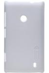 Чехол для Nokia Lumia 520 пластиковый тонкий + пленка NillKin D-Style белый