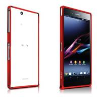 Чехол для Sony Xperia Z Ultra XL39H Бампер алюминиевый ультра-тонкий Love Mei 0,7мм красный