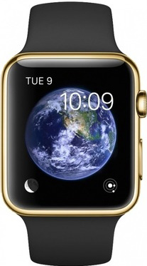 Apple Watch Edition 38mm Yellow Gold with Black Sport Band (MKL52)