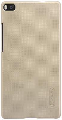 Накладка Nillkin для телефона Huawei Ascend P8 Lite цвета золото + защитная пленка