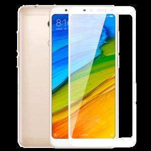 Защитное стекло на телефон Xiaomi Redmi 5 Plus 5D White