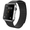Apple Watch 42mm Stainless Steel with Black Leather Loop (MJYN2)
